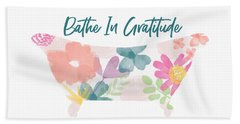 Bathe In Gratitude- Art By Linda Woods Beach Towel