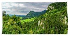 Bavarian Alps Panorama Beach Towel