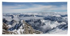 Beach Towel featuring the photograph Bavarian Alps, Zugspitze by Dawn Richards