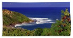 Beach Towel featuring the photograph Bay In St Kitts by Tony Murtagh