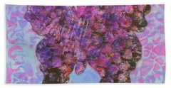 Be Happy 2 Butterfly Beach Towel