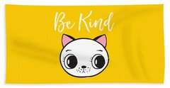 Be Kind - Baby Room Art Poster Print Beach Sheet