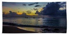 Beach At Sunset 3 Beach Sheet