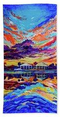 Beach House Reflections Fluid Acrylic Beach Towel
