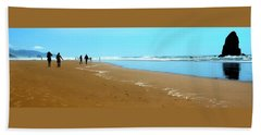 Beach Towel featuring the photograph Beach Walk Wide by Jerry Sodorff