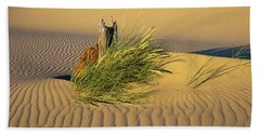 Beachgrass And Ripples Beach Towel
