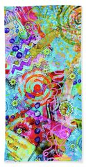 Beach Towel featuring the mixed media Beachparty by Mimulux patricia No