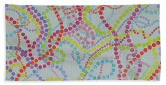 Beads And Pearls - Happy Day Beach Towel
