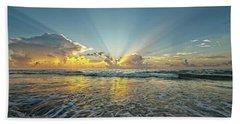 Beams Of Morning Light 2 Beach Sheet