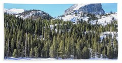 Beach Towel featuring the photograph Bear Lake View Of Notchtop Mountain by Dawn Richards