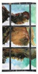 Bear Outside My Window Beach Sheet