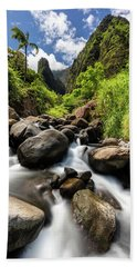 Beautiful Day At Iao Valley Beach Towel