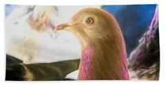 Beautiful Homing Pigeon Painted Beach Towel