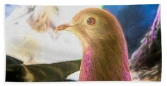 Beautiful Homing Pigeon Painted Beach Towel
