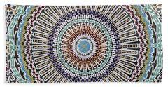 Beautiful Infinity Desgn Mosaic Fountain Beach Towel