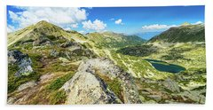 Beautiful Landscape Of Pirin Mountain Beach Sheet