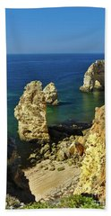Beautiful Marinha Beach From The Cliffs Beach Sheet