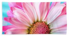 Beautiful Pink Flower Beach Sheet