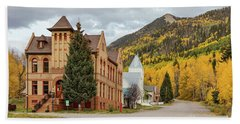 Beach Towel featuring the photograph Beautiful Small Town Rico Colorado by James BO Insogna