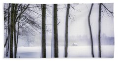 Beach Towel featuring the photograph Beauty Without Color by Edmund Nagele