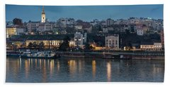 Belgrade Skyline And Sava River Beach Sheet