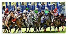 Belmont Park Starting Gate 1 Beach Towel