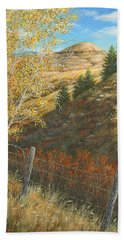 Belt Butte Autumn Beach Sheet