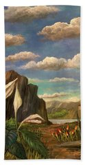 Beneath The Clouds Of Africa Beach Towel