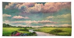 Beneath The Clouds Of Paradise Beach Towel