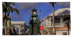 Beach Towel featuring the photograph Berkeley Memorial Clock by Tony Murtagh