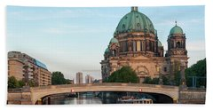 Berliner Dom And River Spree In Berlin Beach Sheet
