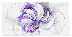 Beyond Abstraction Purple Beach Towel