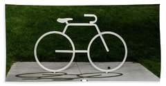 Beach Towel featuring the photograph Bicycle by Randy Scherkenbach