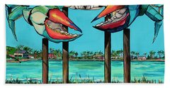 Big Blue Crab Rockport Beach Towel