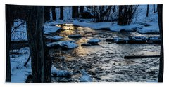 Big Hills Springs Under Snow And Ice, Big Hill Springs Provincia Beach Towel
