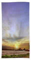 Big Sky Rural Sunset Beach Sheet