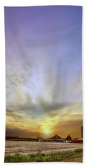 Big Sky Rural Sunset Beach Towel