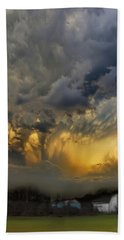 Big Sky Yellow Light Beach Sheet