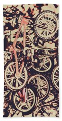 Bike Mountain Beach Towel