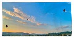 Binghamton Spiedie Festival Air Ballon Launch Beach Towel