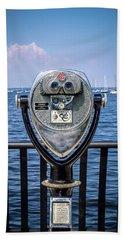 Beach Towel featuring the photograph Binocular Viewer by Steve Stanger