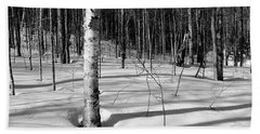 Beach Towel featuring the photograph Birch Shadow. by Jeff Sinon