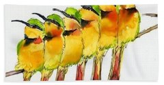 Birds On A Wire Beach Towel