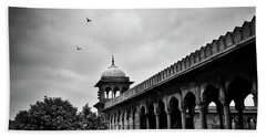Beach Towel featuring the photograph Birds Over The Jama Masjid by Whitney Goodey