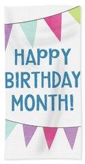 Birthday Month Flags- Art By Linda Woods Beach Towel