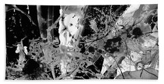Black And White Abstract - Black Formations 1 - Sharon Cummings Beach Towel