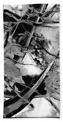 Black And White Art - Black Formations 5 - Sharon Cummings Beach Towel