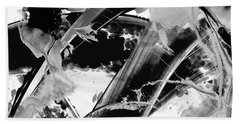 Black And White Modern Art - Black Formations 2 - Sharon Cummings Beach Towel