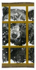 Black Bear, Outside My Window Beach Sheet