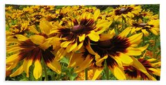 Black-eyed Susan In Your Face Beach Towel
